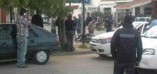Choque fatal en Av Santa Ana y Arrecifes, barrio Las Palmas (Foto: @marce_benedetto)