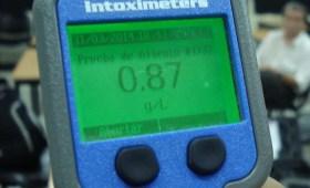 Resultado 087 en control de alcoholemia con aparato digital activo