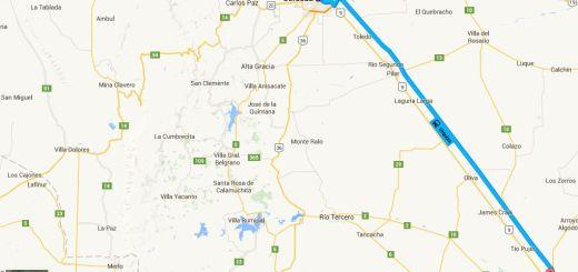 Google Maps como llegar Cordoba Villa Maria