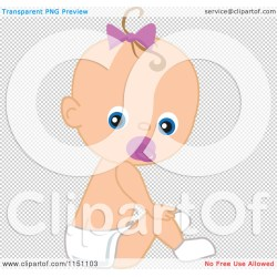 Antique Png File Has A Transparent Cartoon A Pacifier Royalty Free Vector Baby Girl Cartoon Clipart Cartoon Baby Girl Images A Baby Girl