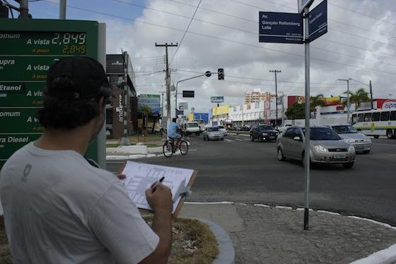 Contagem de ciclistas em Aracajú