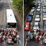 De carro ou de ônibus