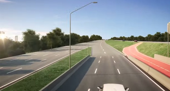 Ao fim da ponte, a ciclovia segue para lugar nenhum