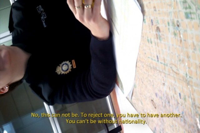 Núria Güell requests the rejection of her nationality at the Immigration Office in Barcelona. © Núria Güell: Stateless by Choice. On the Prison of the Possible, 2015–2016
