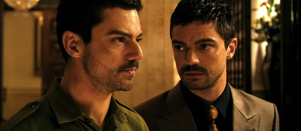 Dominic Cooper stars as Latif Yahia (left) and Uday Hussein (right) in THE DEVIL'S DOUBLE. Photo courtesy of Lionsgate