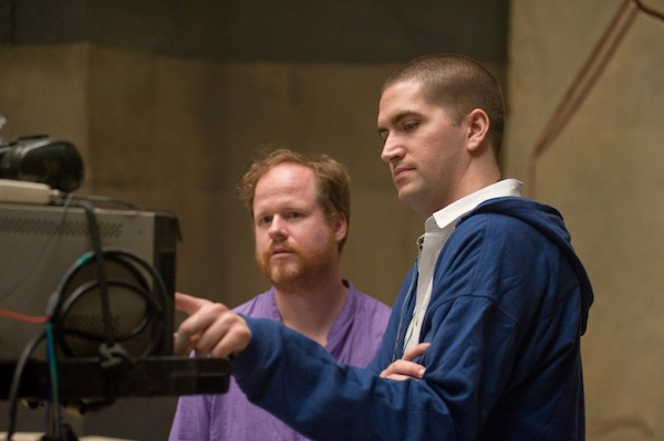 Joss Whedon and Drew Goddard on the set of 'Cabin in the Woods'