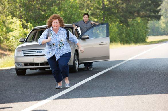 Melissa McCarthy and Jason Bateman in Identity Thief