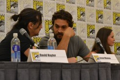 David Hayter and Jason Momoa at the Wolves panel at San Diego Comic Con 2013