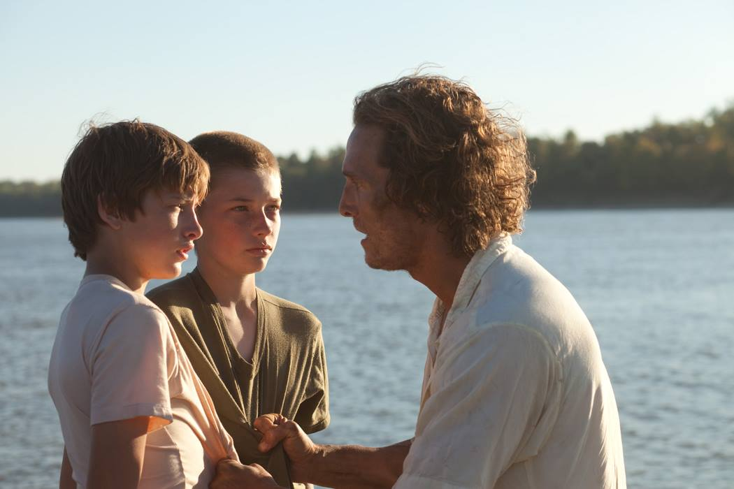 Matthew McConaughey, Tye Sheridan, and Jacob Lofland star in Mud