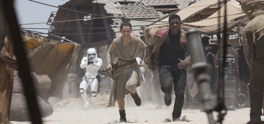 Daisy Ridley and John Boyega in Star Wars: The Force Awakens