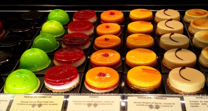 Delicious desserts in Barcelona