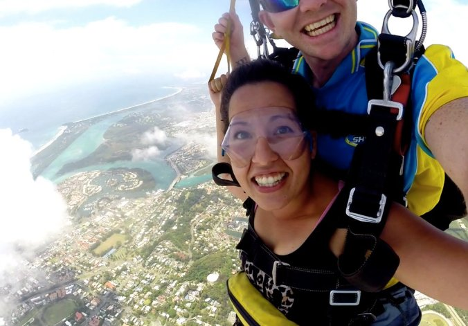 Skydiving is an amazing experience, especially over Kirra Beach
