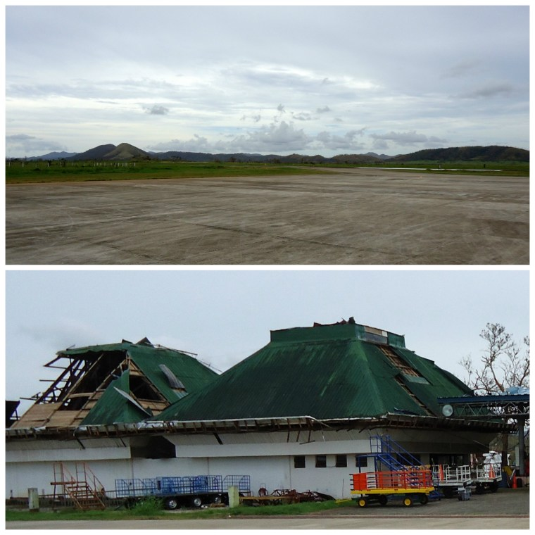 Basuanga airport was badly damaged after Typhoon Haiyan (Yolanda)