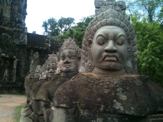 Statues at Angkor Thom, Angkor, Cambodia  (image credit: Lily Evans)