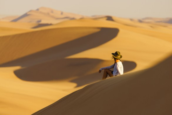 The sand dunes that back Swakopmund and the surrounding coastline seem to venture off as far as the eye can see.