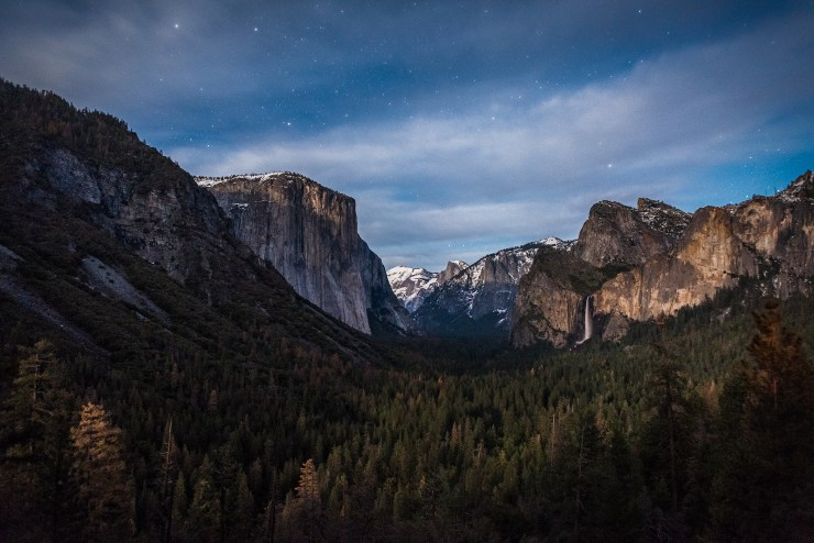 Tunnel View Moonset Horsetail Fall Yosemite National Park Taylor Gray