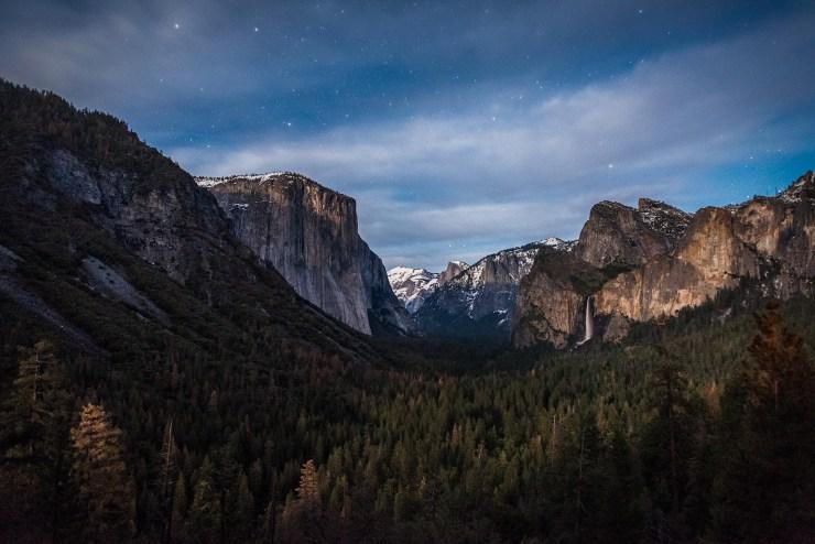 Tunnel View Moonset Horsetail Fall Yosemite National Park Taylor Gray