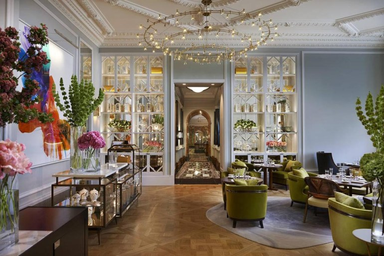 The Rosebery Lounge at Mandarin Oriental Hyde Park, London.