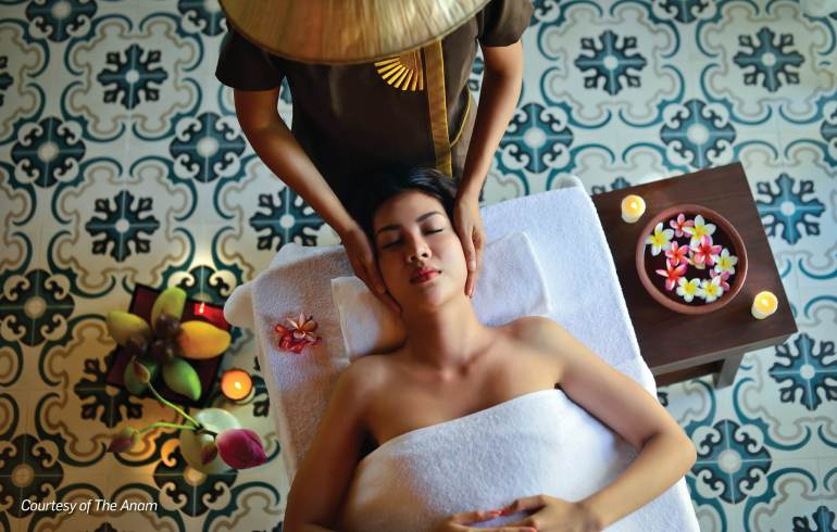 Book a spa treatment at The Anam, Vietnam.