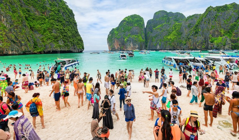 The Beach From Leonardo Di Caprio Film Goes Off The Grid For Tourists