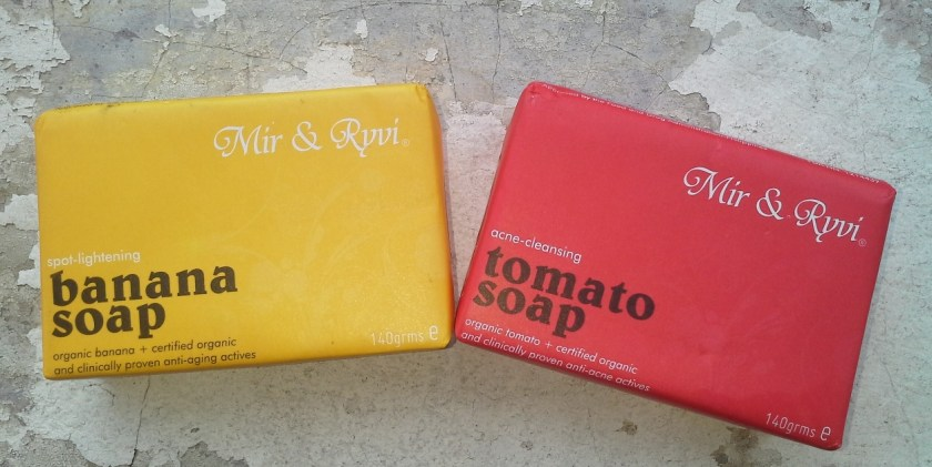 Mir & Ryvi Banana (left) and Tomato (right) Soap
