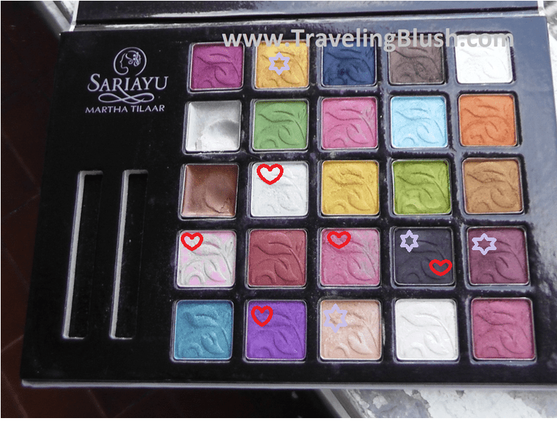Sariayu 25 Best Choices Eyeshadows Palette (25 Years Anniversary Palette)