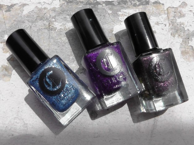 Left to right: Cirque Colors Ophelia, Queen Majesty and Planet Caravan (click to enlarge!)