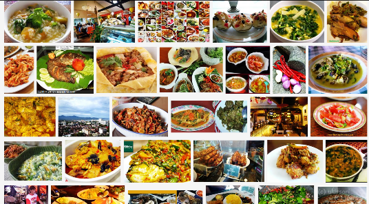 Result of a Google image search for 'Manado Food""