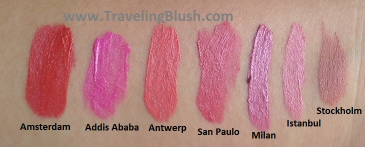 NYX Soft Matte Lip Creams Amsterdam, Antwerp, Addis Ababa, San Paulo (Sao Paulo), Milan, Istanbul, Stockholm