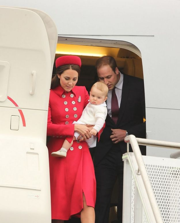 William, Kate and George Touch Down New Zealand