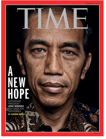 Joko Widodo on the cover of Time Magazine