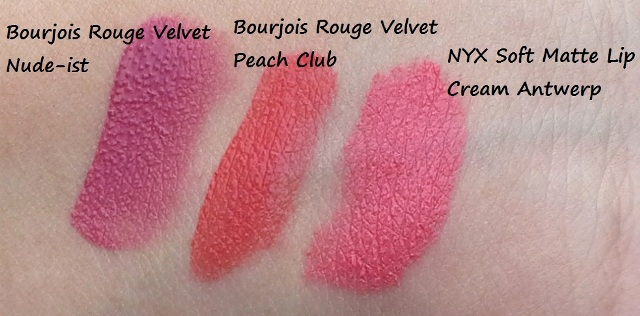 bourjois rouge velvet edition nude-ist peach club nyx antwerp