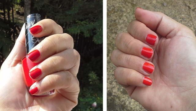 Left: OPI 'Over and Over A-Gwen' and right, mixed with OPI 'Brights Power'