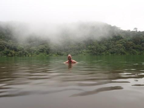 Basking in Lake Chetal; Volcan Arenal, Costa Rica; 2013