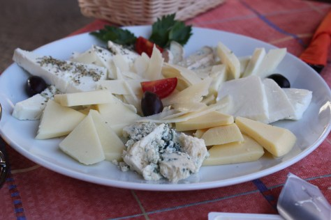 Cheese Platter; Santorini Island, Greece; 2013
