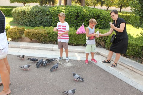 Kids with Pigeons; Athens, Greece; 2013