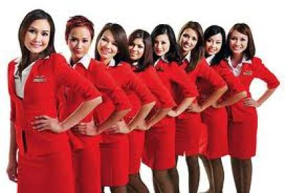 Air Asia flight attendances.