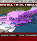 Snowstorm Nemo, forecasted by the Weather Channel.