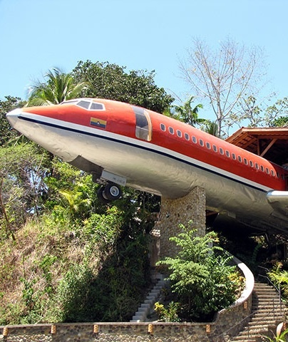 The 727 hotel in Costa Rica.
