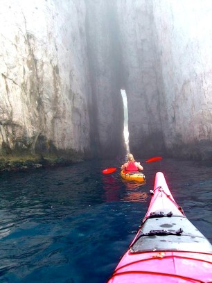 Adventures in the kayaks at Calanque de Sormiou outside Marseille, France.