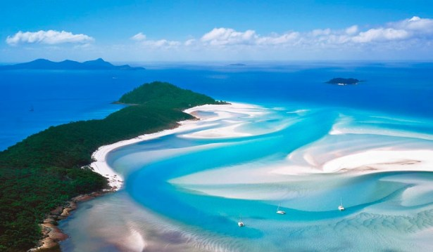Whitsundays from above. Photo: Flickr