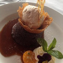 Riverbank Estate Swan Valley Sticky date pudding, butterscotch sauce, brandy snap and rum and raisin ice cream