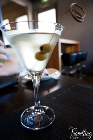 Jezebelle in Guildford dirty martini cocktail
