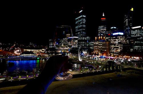 Wine Glass & Perth City - Horizon Events Wine Tasting