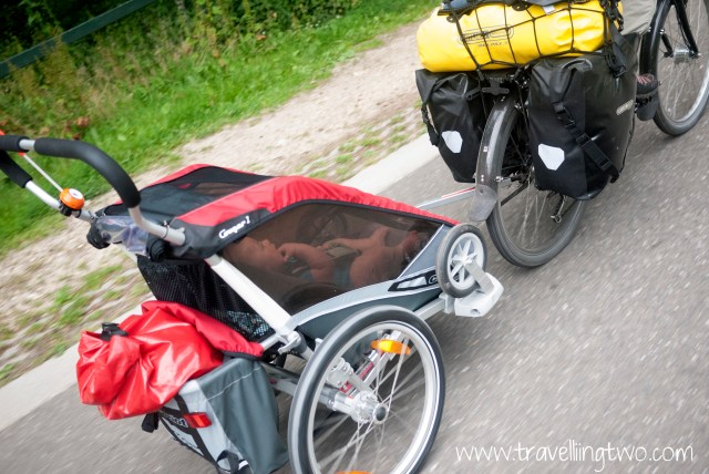 Our first bike trip with a baby - from Holland to France.