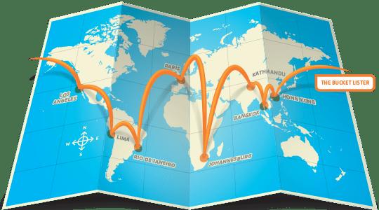 World Itinerary Map