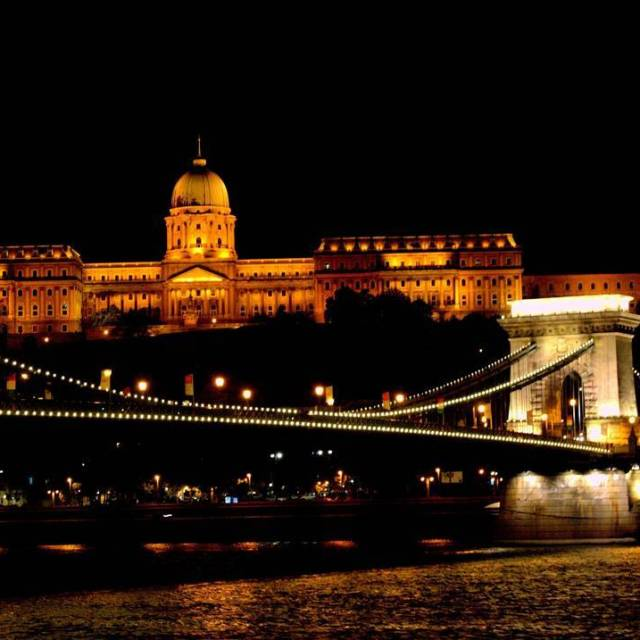 The view of the Chain Bridge and Budapest Castle athellip