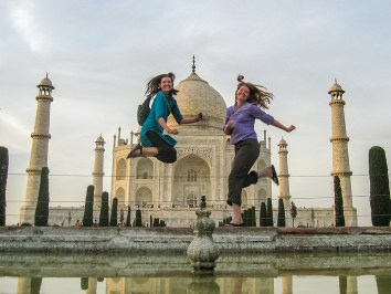 Jumping at the Taj Mahal