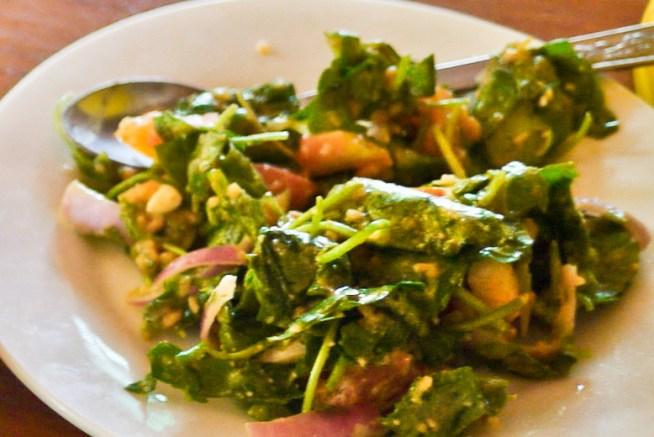 Pennywort salad burmese food