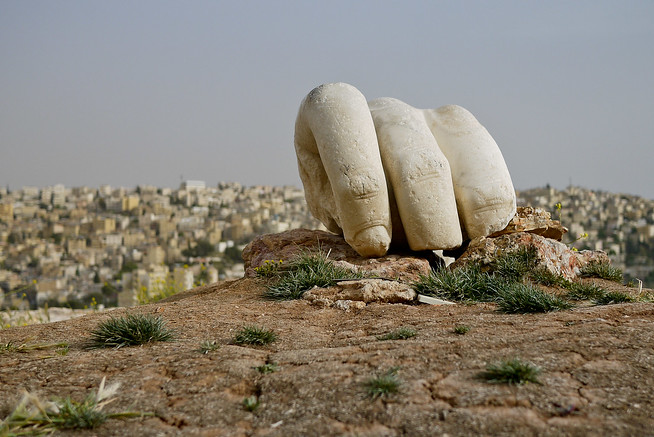 Giant Hercules Hand, Amman, Jordan